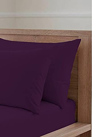 Sleep&Beyond Ultimate Collection Egyptian Cotton 200 Thread Count Housewife Pillowcases (Aubergine, Pair Pack)