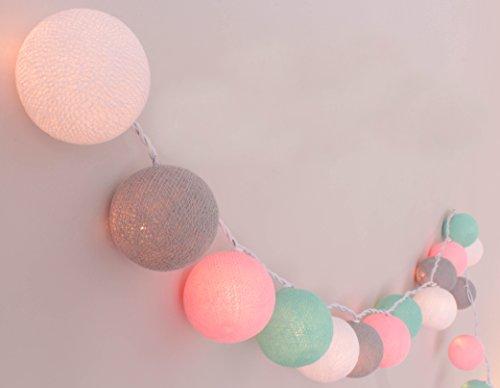 Lichterkette 'Babyzimmer' mit 20 Kugeln aus Baumwolle - Cotton Ball Lights, innen (Globe Bild)