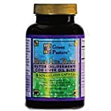 Green Pasture Blue Ice Royal Butter/Fermented Cod Liver Oil Blend - 120 Capsules from Green Pasture
