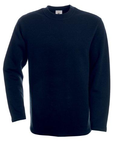 B&C -  Felpa  - Basic - Maniche lunghe  - Uomo blu navy