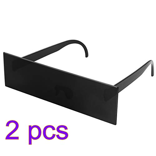 nbrille Cosplay Partei auffällige Brille Brillen Halloween kostüm zubehör 2 stück ()