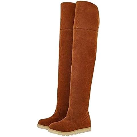 jeansian Moda Sopra il Ginocchio Scamosciato Scarpe Stivali Boots Shoes WSB049