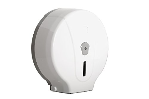SemyTop ST-5030 Toilettenpapier-Spender für Jumbo-Rollen, weiß/grau, 330 x 310 x 125 mm - Jumbo-rollen