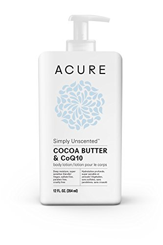 Acure Organics, Ultra-Hydrating Body Lotion, Cocoa Butter + CoQ10, Unscented, 8 fl oz (240 ml)