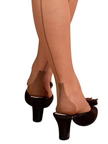 What Katie Did A432, Escarpins pour Femme Beige Latte - Beige - Medium Large (5ft 5 à 5ft)(54.43/79.37 Kg)