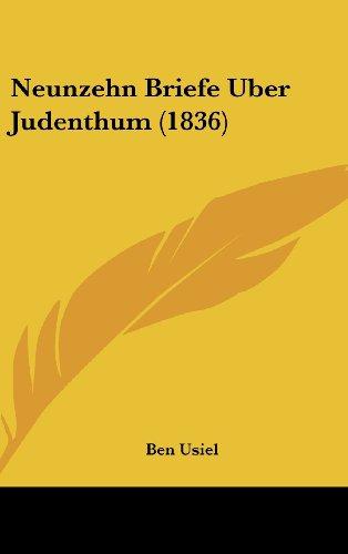 Neunzehn Briefe Uber Judenthum (1836)