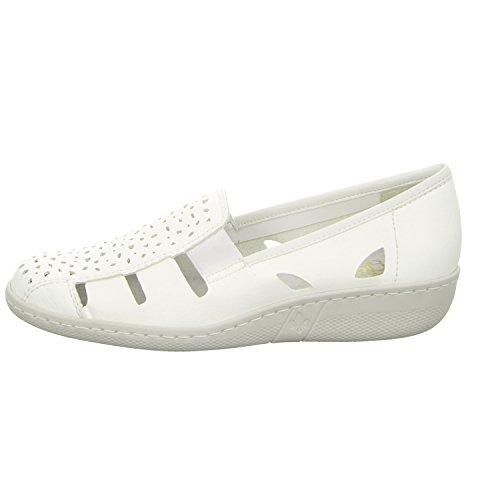 Rieker 46355-64, Ballerine donna White - WHITE