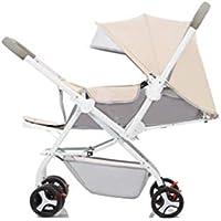 Kinderwagen-Spaziergänger Können Sich Mit Klappbaren, Ultraleichten Zwei-Wege-Kindern 1-3 Jahre Alten Babywagen-Sommer Wagen Sitzen