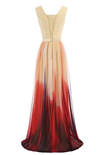 Gorgeous Bride Abendkleider Elegant Lang 2017 Damen Chiffon A-Linie Ballkleider Festkleider Cocktailkleider Z-Style F