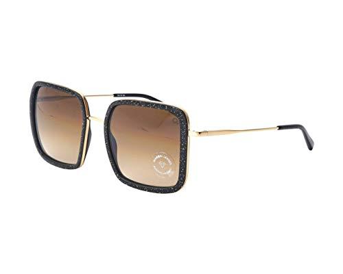 Etnia Barcelona Sonnenbrillen (TAHOE BKGD) schwarz glänzend - gold - grau-braun verlaufend