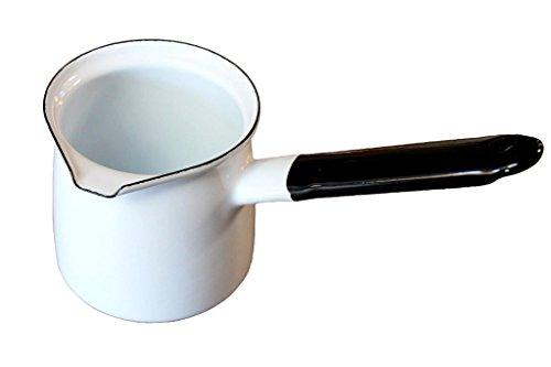 Bara es Bara Kaffeekocher Weiß 67/6 emailliert Milchkanne Mokkakanne Cezve Dzhesva Emaille