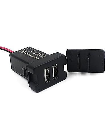 k-nvfa voltmètre numérique 12V 24V SUV cigarette du USB Thermomètre Chargeur pour voiture 3in1kk-v- 6633