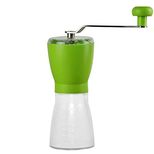 vanpower Manuelle Kaffeemühle, tragbare PP-Kaffeemühle mit Edelstahl-Griff, Küchenwerkzeuge, grün, 225x70mm/8.8x2.7in