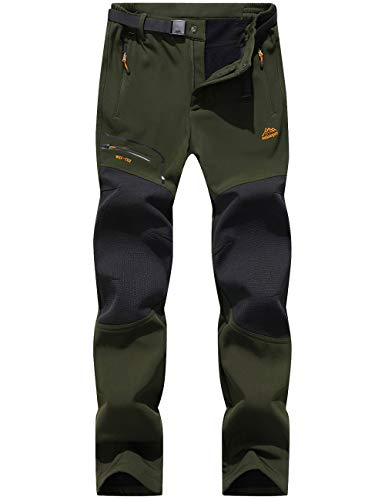DENGBOSN Pantalones Montaña Hombre Impermeables