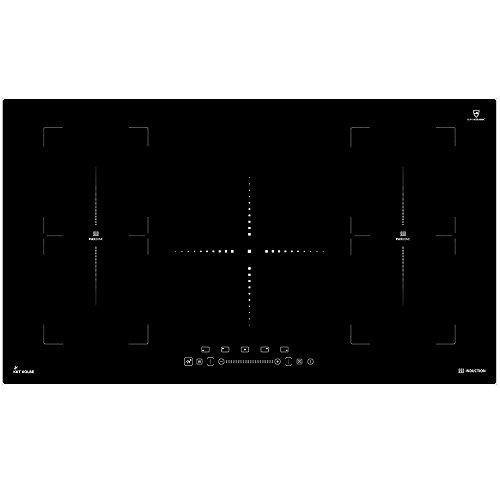 Induktionskochfeld autark rahmenlos/2 Flexzonen/IND9052FZ/90cm/extra große Kochplatte