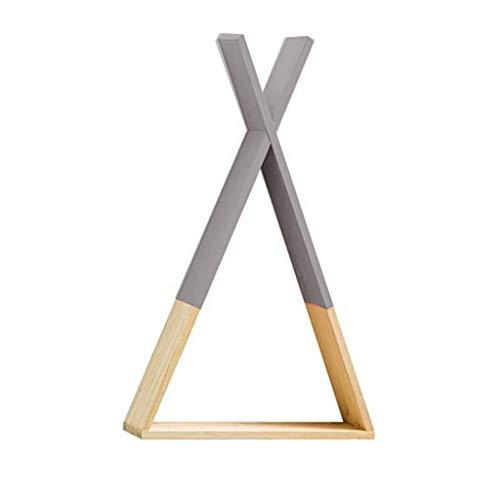 Yanhonin Regal Tipi aus Holz - Wandregal Aufbewahrung - Regal für Kinderzimmer Baby DIY Dekoration