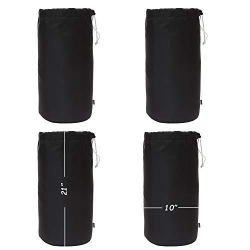 Augbunny Wasserdichter Beutel mit Kordelzug, Staubklappe, 4 Stück, Unisex, schwarz, Large -