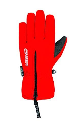 Chiba Kinder Basic Finger Polyester Handschuhe, Kinder, Basic Finger, rot, Size 4