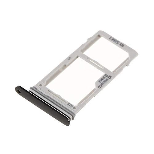 jbTec® SD-Card/SIM-Tray DUAL #S81 zu Samsung Galaxy S9 / S9 Plus - Halter Rahmen Schlitten Telefonkarte Speicherkarte, Farbe:Schwarz