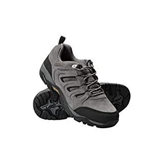 Mountain Warehouse Aspect Mens IsoGrip Shoes - Waterproof Hiking Shoe, Phylon Midsole Walking Footwear, EVA Cushioned, Suede & Mesh Upper - for Holidays, Camping Dark Grey 11 UK