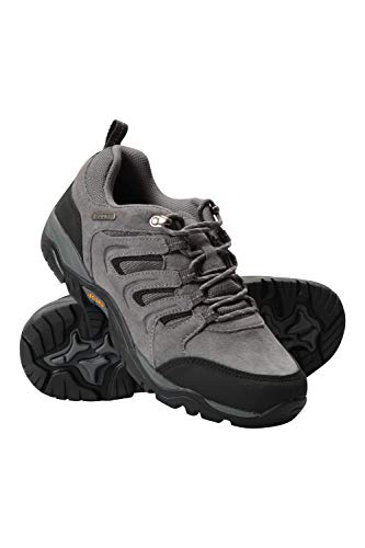 Mountain Warehouse Aspect Mens IsoGrip Shoes - Waterproof Hiking Shoe, Phylon Midsole Walking Footwear, EVA Cushioned, Suede & Mesh Upper - for Holidays, Camping