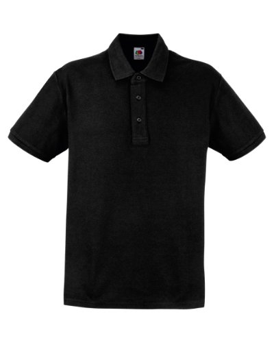 Fruit of the LoomHerren Poloshirt Schwarz - Schwarz