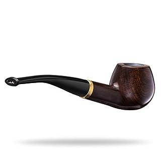 Lytshop Klassische Ebenholz-Pfeife für Tabakbeutelfilter