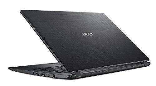 Acer Aspire 1 (A114-31-C3RS) 35,6 cm (14 Zoll, HD, matt) Notebook (Intel Celeron N3450, 4 GB RAM, 64 GB eMMC, Intel HD, HDMI, USB 3.0, BT 4.0, Win 10 S) schwarz