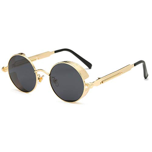 c6102d0360c4 Youtato HD Sunglasses Polarized Vintage Steampunk Retro Metal Frame Sun  Glasses for Men Women UV400 Protection