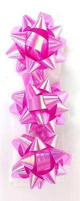 3PK Pink irisierend Mini Band Bögen Geschenkpapier Geschenk Dekoration Craft Paket