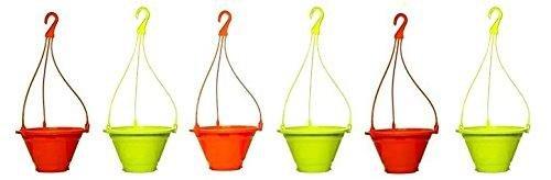 Truphe Garden Hanging Pot (Pack Of 6) - Multicolor