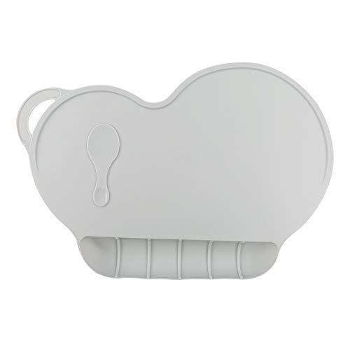 e Platte des Säuglingsplacematnahrungsmittelgrad-Silikonkissens Kann Gewaschen Und 40 * 27 * 0,13Cm * 2Pcs Grau Gefaltet Werden ()