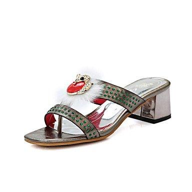 LvYuan Da donna-Sandali-Matrimonio Ufficio e lavoro Casual-Innovativo Club Shoes-A stiletto-Lustrini Materiali personalizzati-Nero Rosso Argento Silver