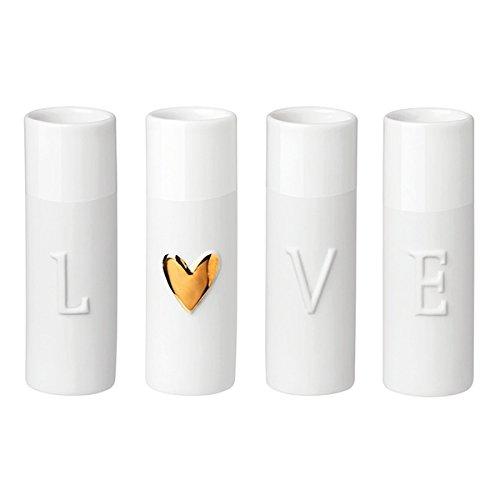 Räder Love Minivasen, 4er Set