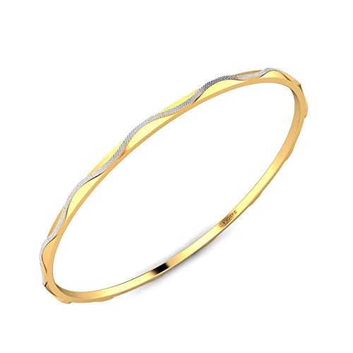 Candere By Kalyan Jewellers Contemporary Collection 22k Yellow Gold Sumona Bangle