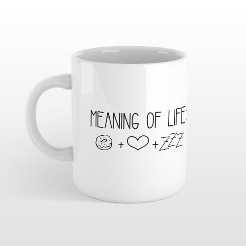 Tasse MEANING OF LIFE - Statement Tasse - Statement Kaffeetasse - Tasse mit Spruch - Cup - Mug - Stylecover (Schlaf Tee Print)