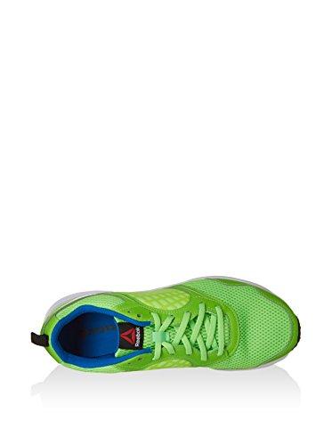 Reebok Herren Rush Gymnastikschuhe, Green Black, 38 EU Verde/Bianco/Blu