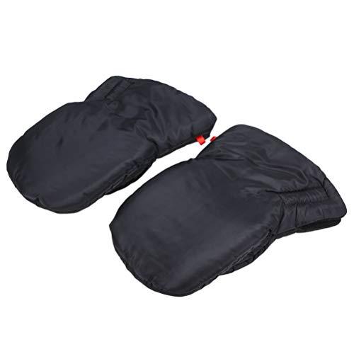 BESPORTBLE EIN Paar Outdoor Winter Warme Handschuhe Winddicht Kinderwagen Hand Muff Dick Frostschutzhandschuhe für Eltern Nanny Housekeeper (Schwarz)