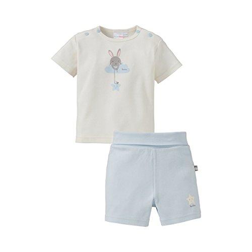Geprüft Schlafanzug (Bornino Schlafanzug kurz/Basics Baby Bekleidung/T-Shirt/Hose/Hasen-Print/Sternen-Print)