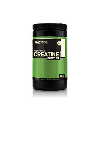 Optimum Nutrition Micronised Creatine Monohydrate- Kreatin-Monohydrat Pulver (hergestellt für Muskelaufbau von ON), Unflavoured, 176 Portionen, 634g
