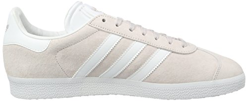 adidas Gazelle, Baskets Basses Homme Rose (Icepur/White/Goldmt)