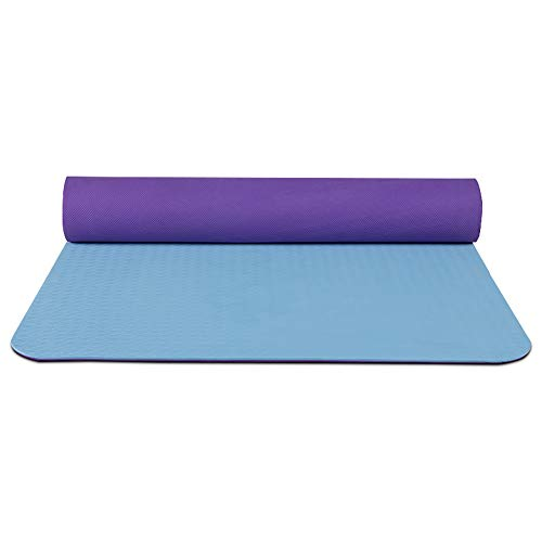 YCLOTH Yogamatte, extra groß, rutschfest, 0,6 cm, TPE Workout Gymnastikmatte, für Zuhause, Fitness-Ausrüstung, Tanzen, Material, 3, Größe 0.00watts