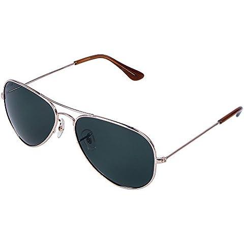 Polarizada Gafas de Sol alto Grado Alto Grado Clásico Aviador Gafas de sol 100% Protección del Marco Metálico UV para Mujer Hombre (Dorado)