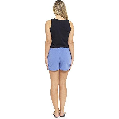 Damen Baumwollemischung Sommer Shorts Freizeit Strand Shorts UK Größen 8-22 Blau