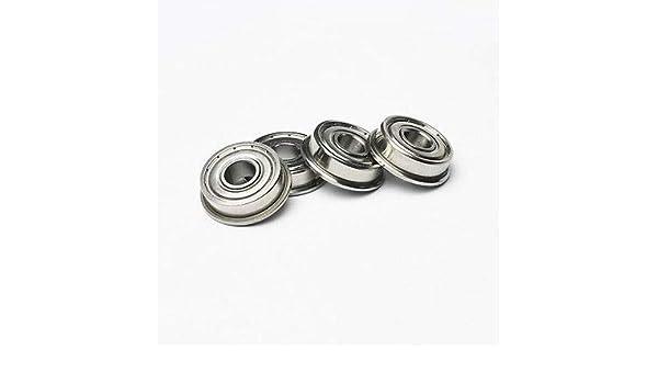 "FR6zz 10 pcs MR6 3//8/"" x 7//8/"" x 9//32/"" Metal Shielded  Flanged  Ball Bearings"