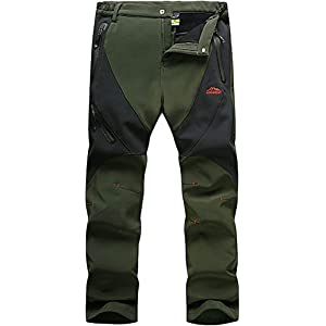 31XixqMI BL. SS300  - TACVASEN Men's Waterproof Softshell Breathable Warm Fleece Winter Lined Trousers
