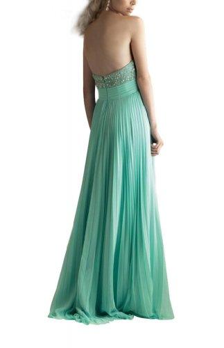 GEORGE BRIDE Perlen Liebsten Elegant Spalte langen Chiffon drapieren Abendkleid / Kleid Gelb