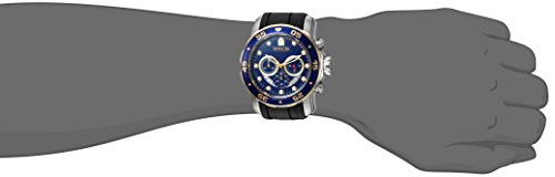 Invicta Men's 'Pro Diver' Quartz Stainless Steel and Silicone Casual Watch, Color Black (Model: 22971)