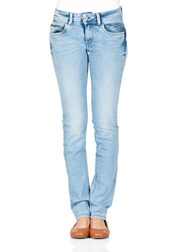 Pepe Jeans Damen Jeans New Brooke - Slim Fit - Blau - Light Blue, Größe:W 28 L 32, Farbe:Light Blue Denim (0000)