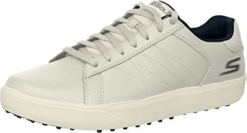 Skechers - Zapato de Golf Drive 4 Hombre, Blanco Blanco/Azul Marino, 45 EU